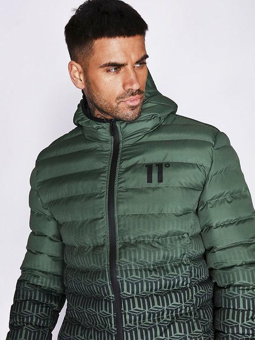 Ombre Print Space Jacket - Khaki/Black/Ombre