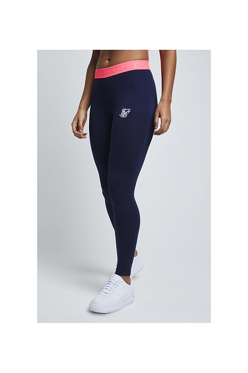 SikSilk  Neon Tape Leggings – Navy