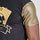 Thumbnail: Black Lucky Fever Tee With Gold Sleeves