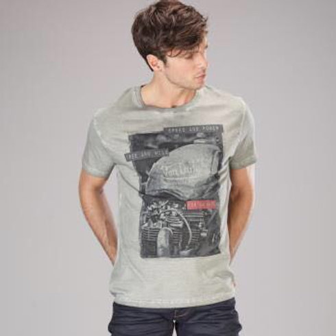 CAMISETA VON DUTCH MOTOR GRIS