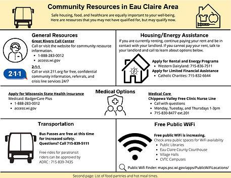 Eau Claire Area Community Resources 0701
