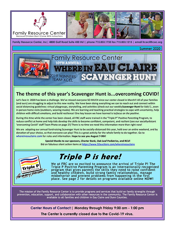 Midsummer2020 FRC Newsletter Front Page.