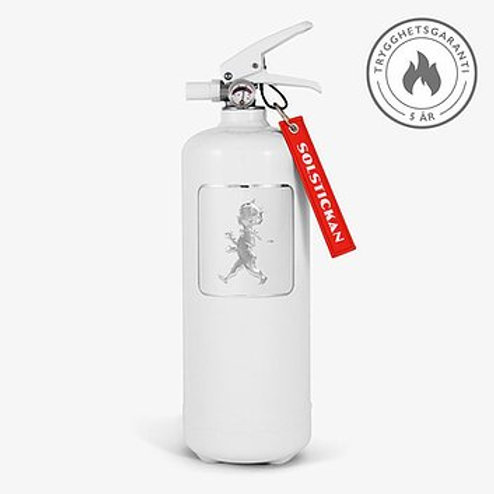 Fire extinguisher white