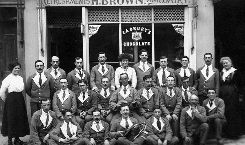 The staff of Brown's Dairy, 1926