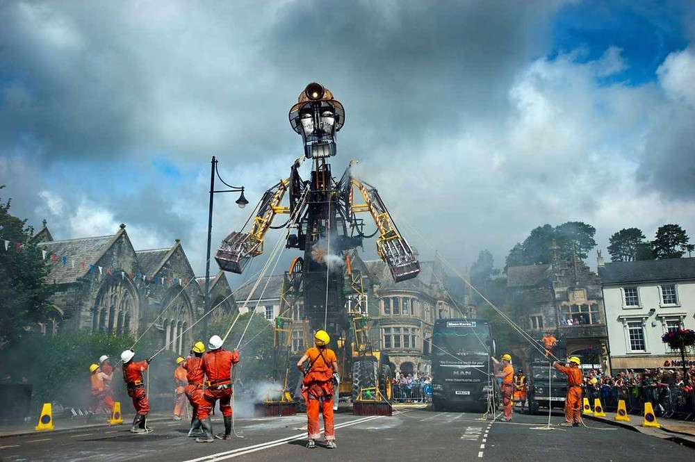 The Man Engine in Tavistock in 2017