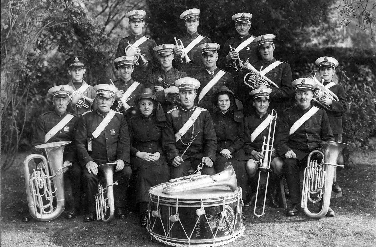Tavistock Salvation Army Band, c. 1920