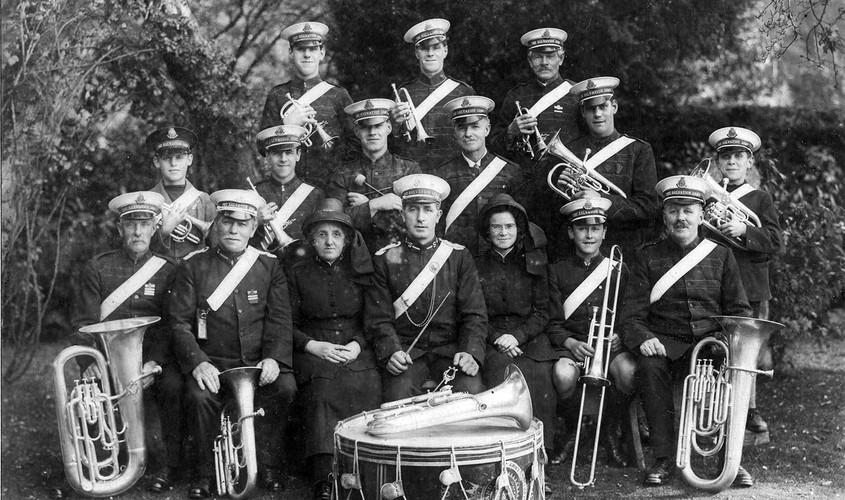 Tavistock Salvation Army Band, c. 1920