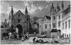 Court Gate and Tavistock Guildhall c. 1830