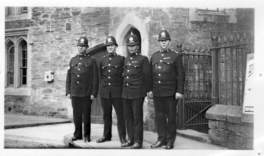 Policemen outside Tavistock Police Station, 1930. With thanks to Simon Dell.