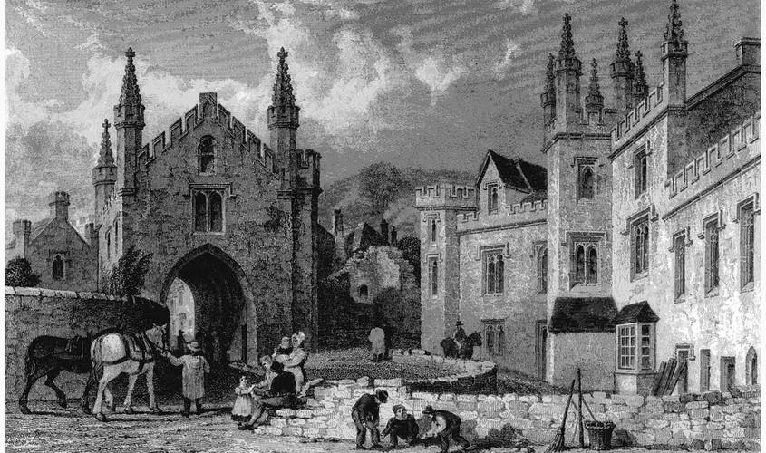 Court Gate and the Tavistock Guildhall, c. 1830
