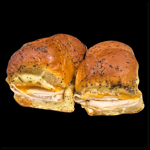 Baked Turkey & Cheddar Sliders