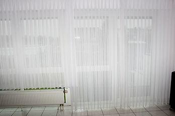 Weiße Gardinen