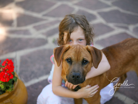 A cute little girl and her cute puppy!