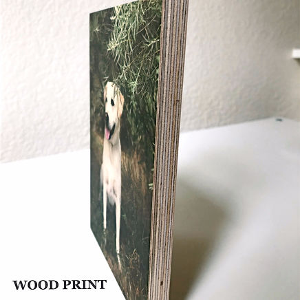 Wood print.  Image is printed with natural ink on the wood