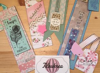 """Marque-pages """"Tiloukrea"""" fait-main"""
