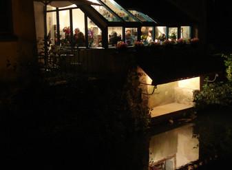 Il est beau le salon de thé... même de nuit !
