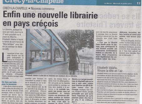 Enfin une nouvelle librairie en pays créçois