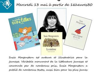 Susie Morgenstern à la librairie !