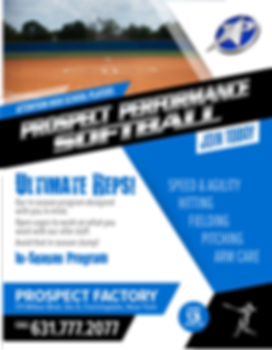 Prospect Sports In Season Softball Program