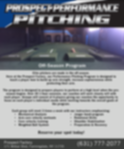 Prospect Sports Off Season Baseball Pitching Training Program