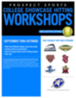 Prospect Sports Softball College Showcase Hitting Worokshops