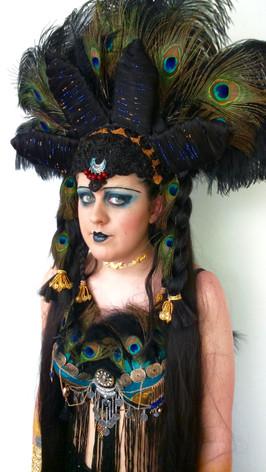 Fantasy wig, makeup, costume - 1920s show girl