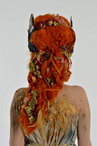 Fantasy wig, makeup, body paint, costume, props - Persephone Queen of the Underworld