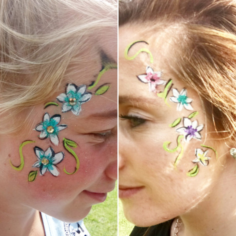 Festival face paint at Goatfest 2017