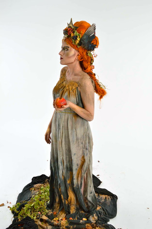 Fantasy wig, makeup, body paint, costume, props - Persephone Queen of the Underworld