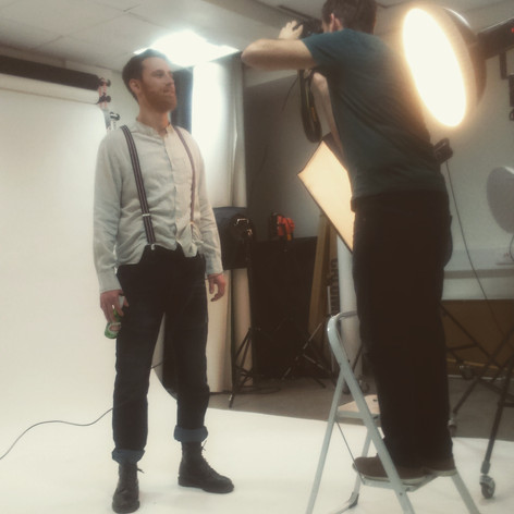 Behind the scenes character photo shoot