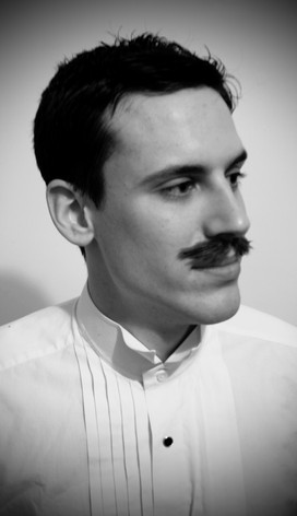 Hand knotted moustache - Edwardian style