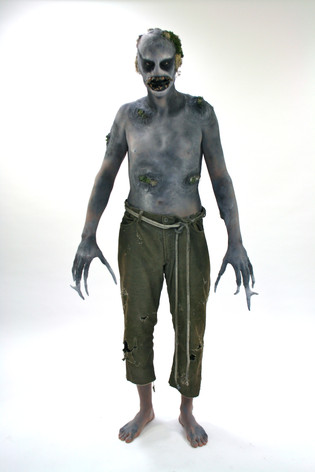 Bald cap, latex mask, prosthetics, body paint, costume - Underground monster