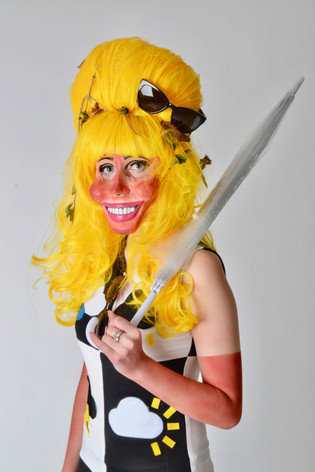 Fantasy wig, latex mask, costume, body paint - Sunny Dayze