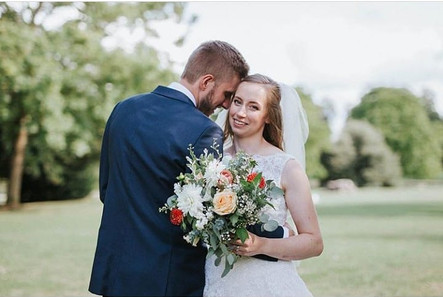 Roses' wedding day