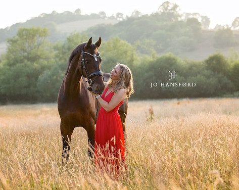 Horse and rider photoshoot