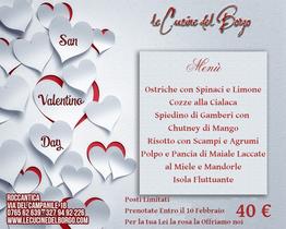 Menù per San Valentino 2019
