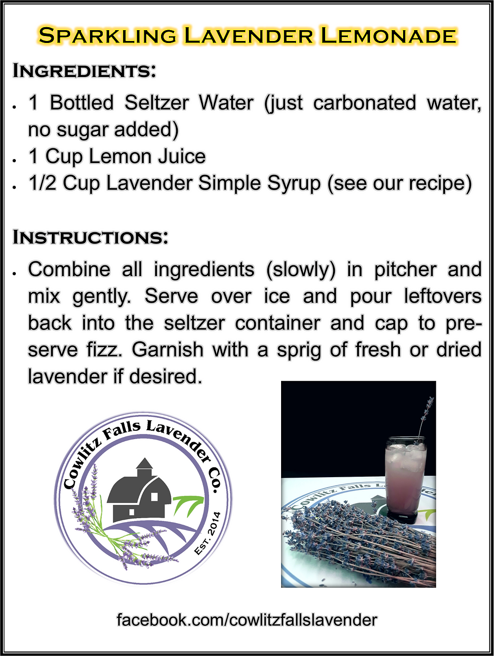 Check out this awesome lemonade recipe, see our recipe for making the simple syrup as well.