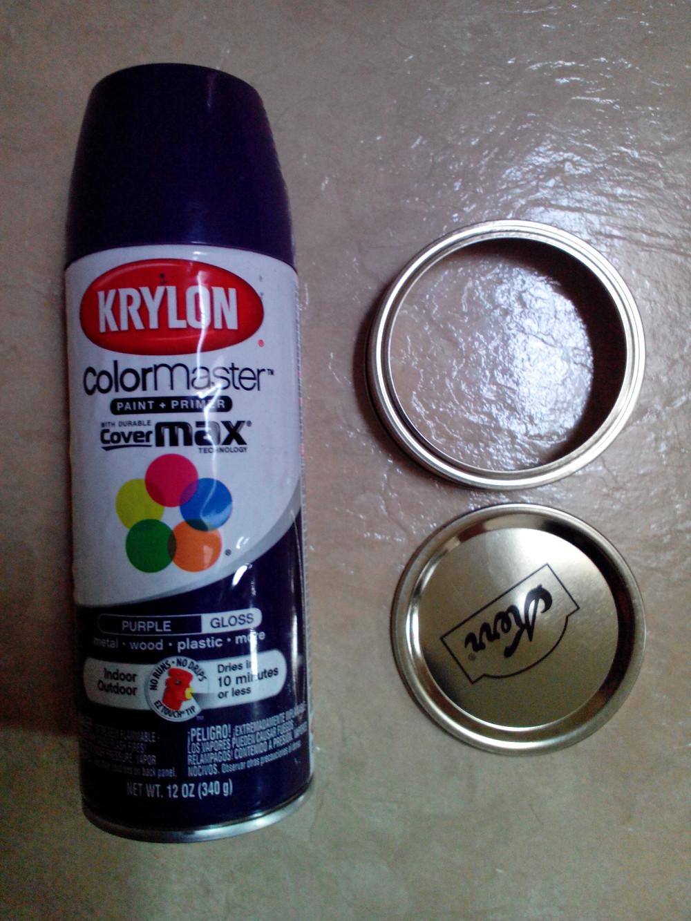 Spray paint to match your decor or design idea.