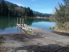 Lake Scanewa boat launch, down the road from Cowlitz Falls Lavender Company in Randle, Washingon.