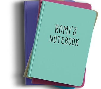 Romi Nicole Schneider Notebook Design