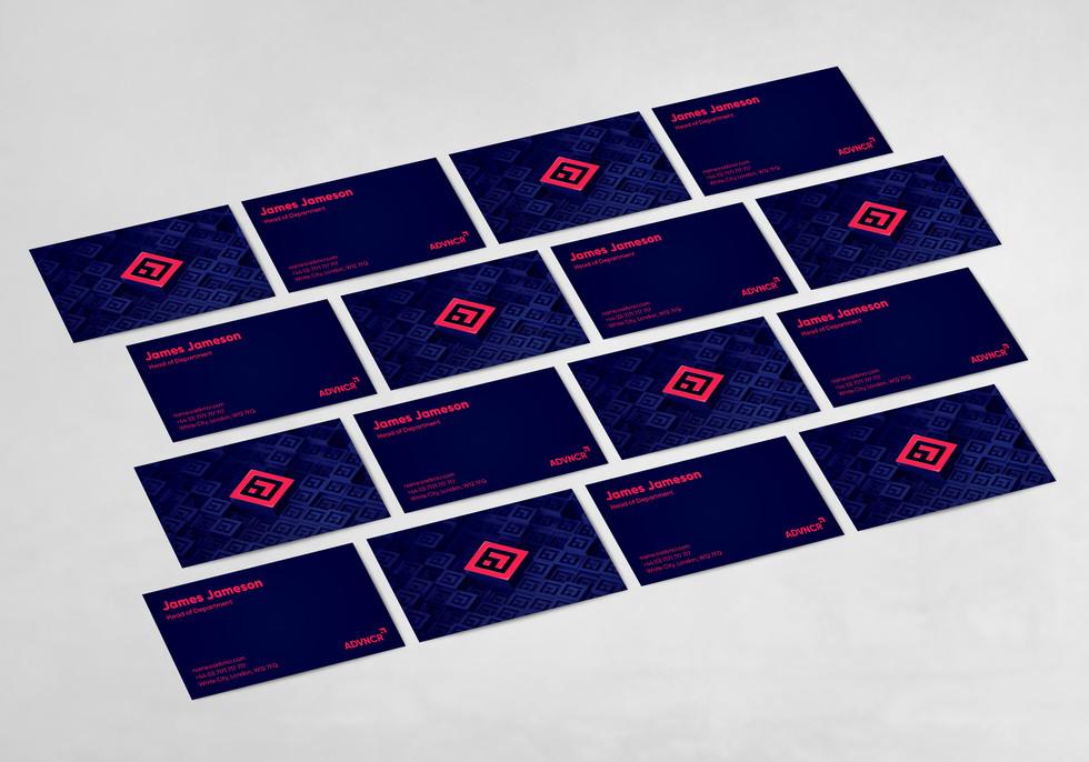 ADVNCR business cards