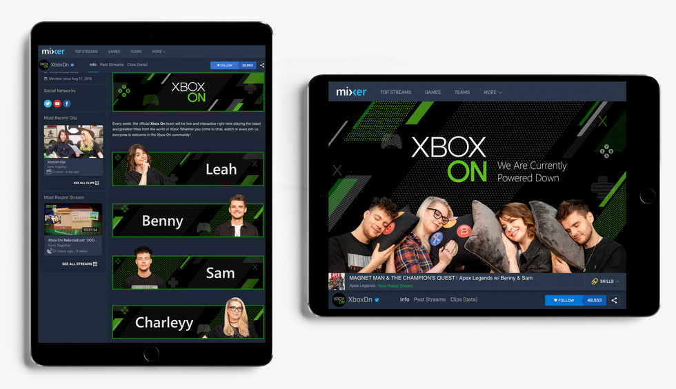 Xbox On Mixer Rebrand