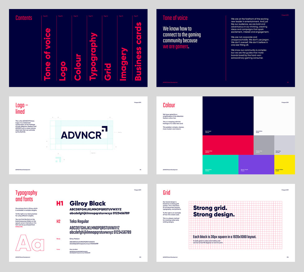ADVNCR Rebrand Guidelines
