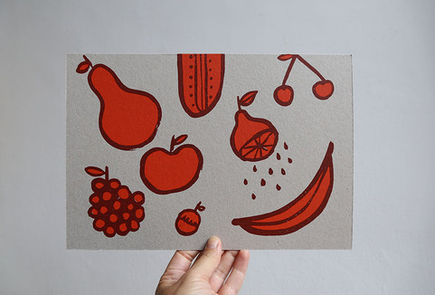 Screenprint Fruits