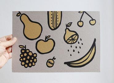 Screenprint Fruits
