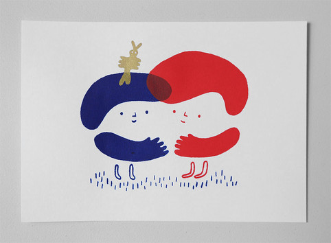 "Screenprint ""Better together"""