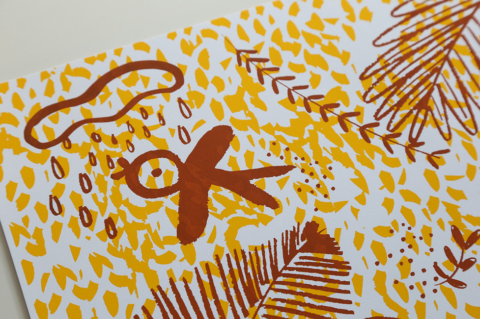 screenprint_anadelgar_selva_brown_detail