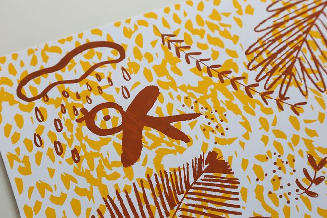 screenprint_anadelgar_selva_brown_detail