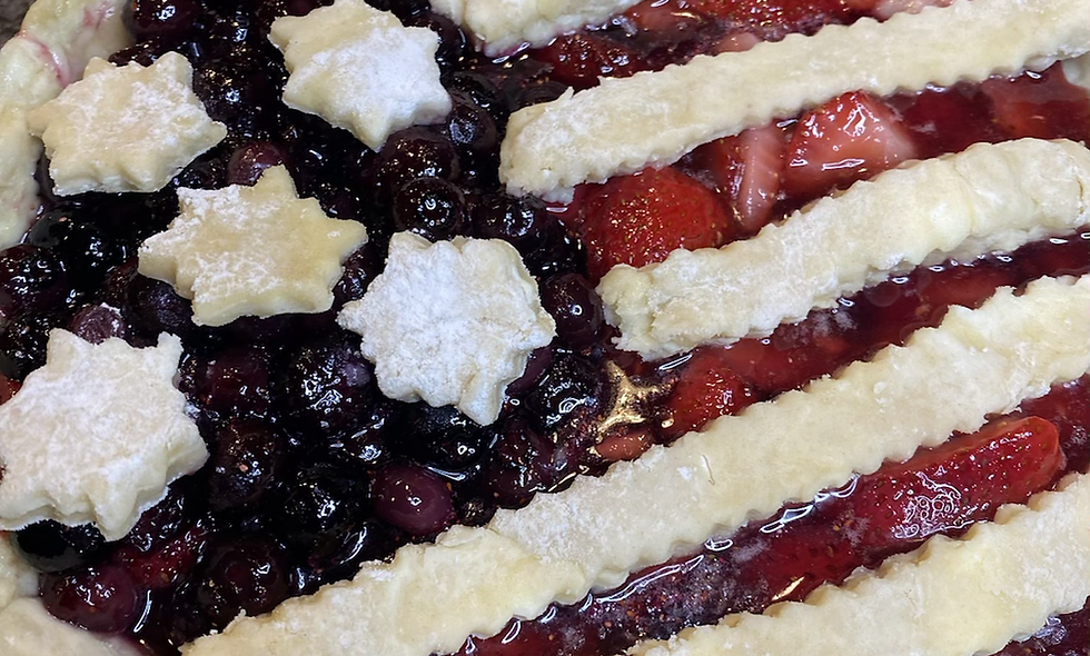 Red, white and blue Memorial Day Pie