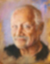 Steven Berkoff Study Oil on Canvas 10 x